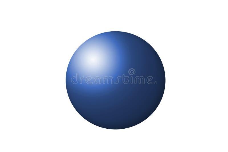 蓝色球形 库存照片