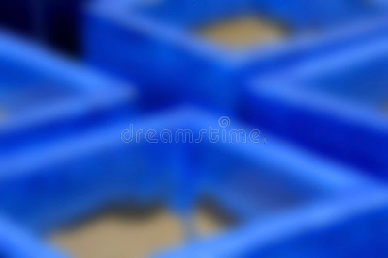 蓝色瓦器迷离背景  免版税库存图片