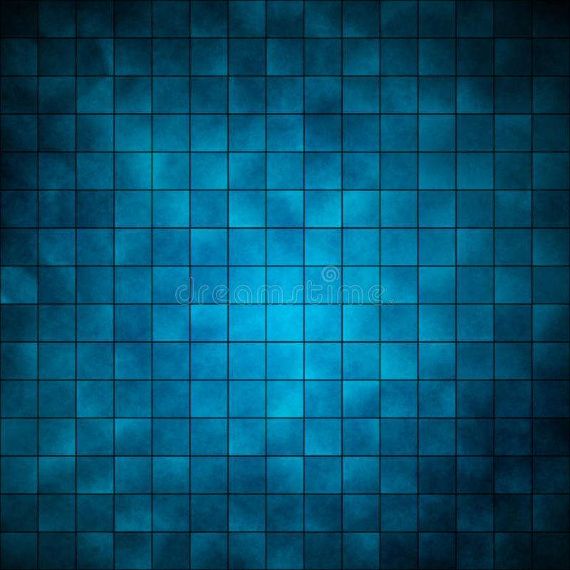 蓝色瓦片 向量例证