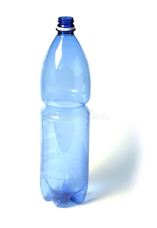 蓝色瓶塑料 免版税库存图片