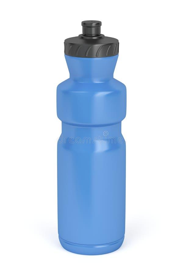 蓝色瓶塑料 皇族释放例证