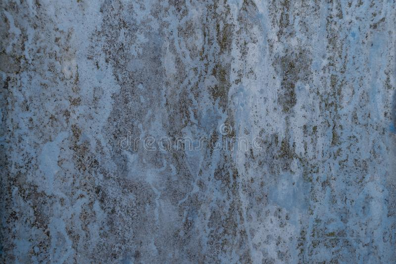 蓝色生锈的背景 库存照片