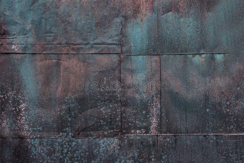 蓝色生锈的金属板 库存图片
