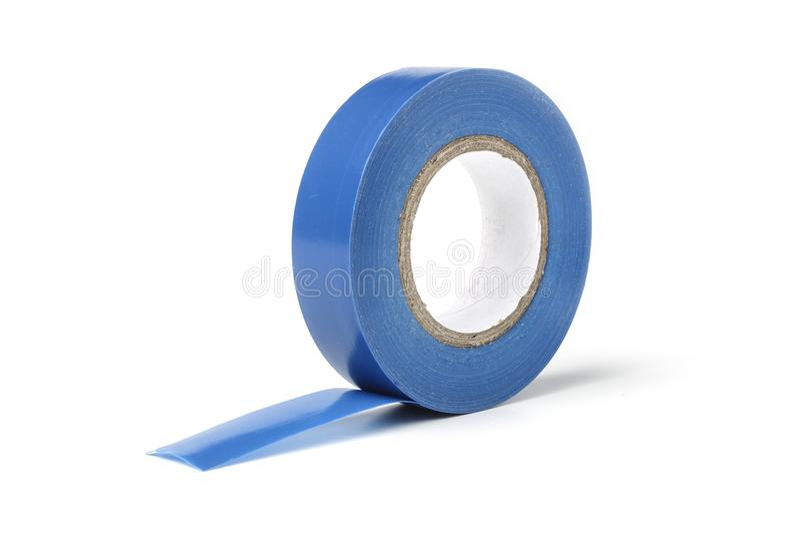 蓝色电子磁带卷轴  免版税库存图片
