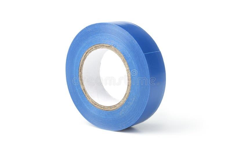 蓝色电子磁带卷轴  库存照片