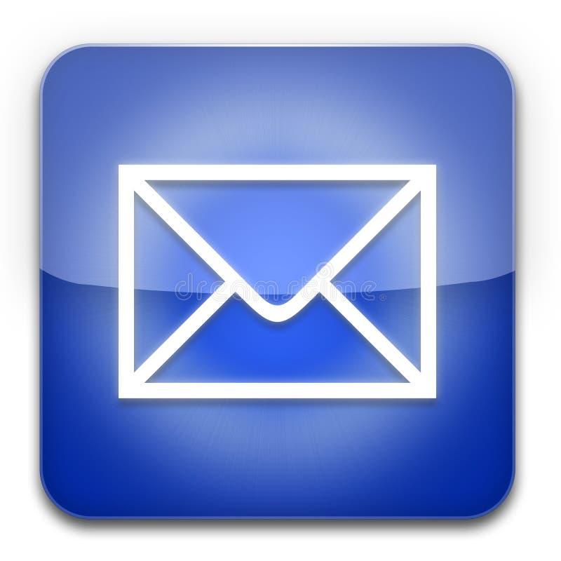 蓝色电子邮件图标 库存例证