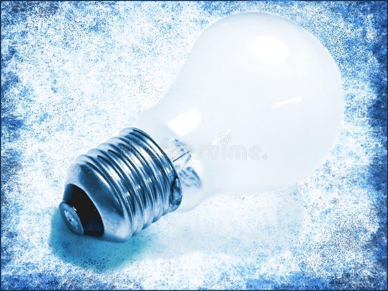 蓝色电灯泡光 免版税库存图片