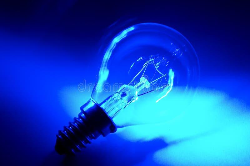 蓝色电灯泡 库存照片
