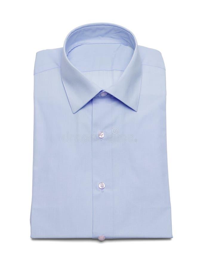 蓝色男式衬衫 库存照片