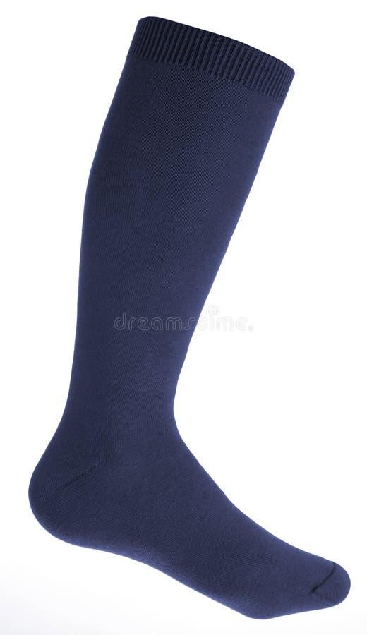 蓝色男性袜子 图库摄影