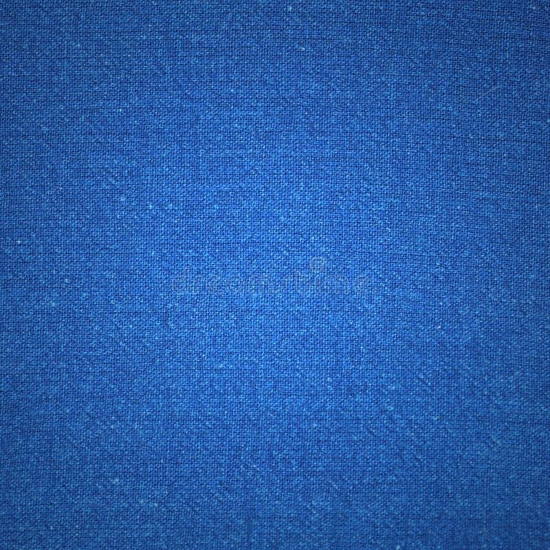 蓝色画布纹理 库存照片