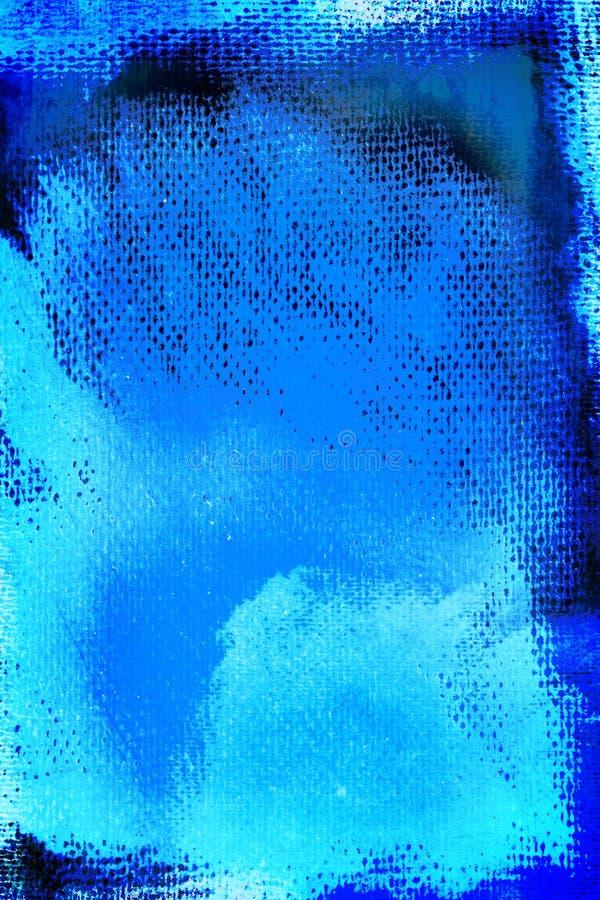 蓝色画布grunge绘了 库存例证