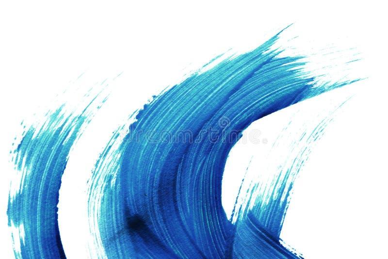 蓝色画笔冲程 库存例证