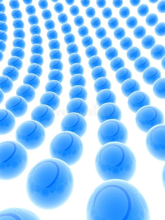 蓝色的球 向量例证