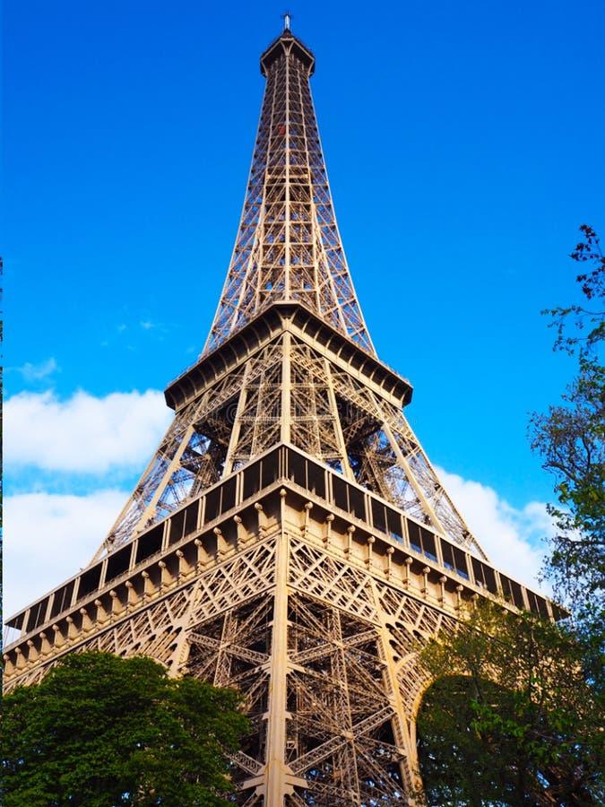蓝色的艾菲尔铁塔 免版税库存照片