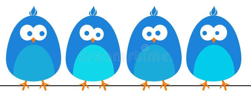 蓝色的鸟 库存例证