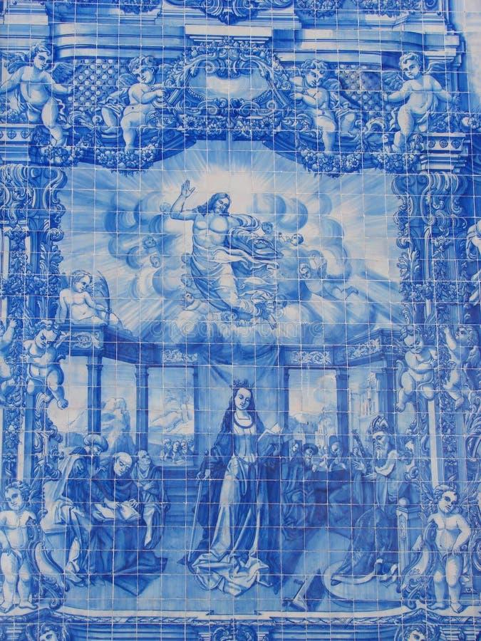 蓝色的azulejos 库存图片