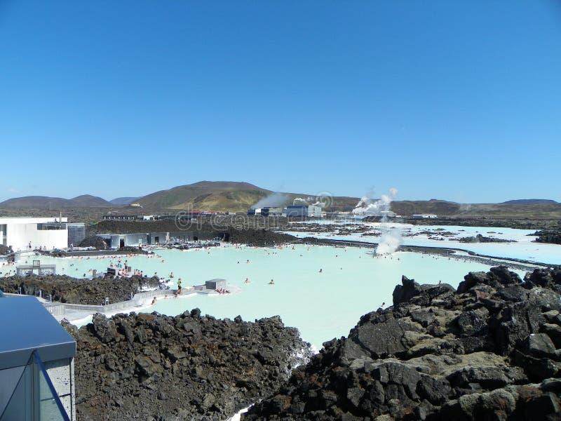 蓝色盐水湖Keflavik冰岛在5月 库存图片