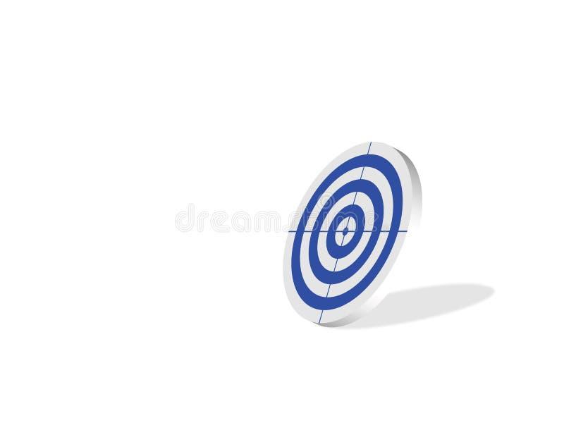 蓝色目标 向量例证