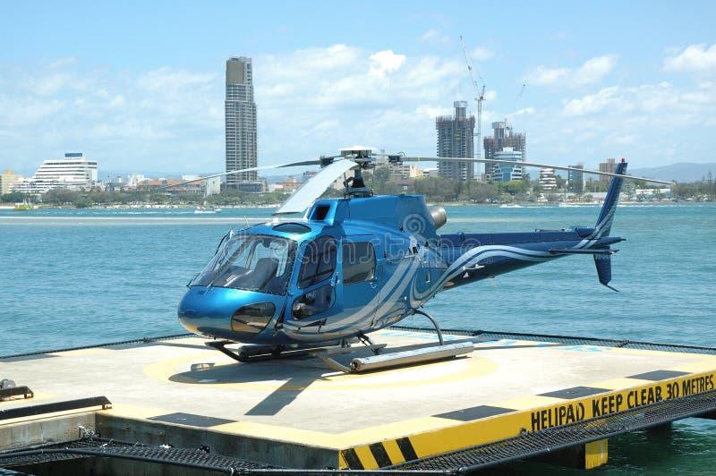 蓝色直升机 免版税库存照片