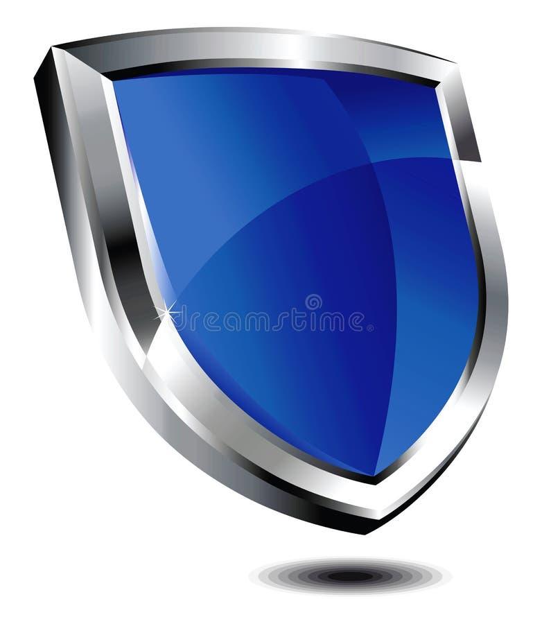 蓝色盾 库存例证