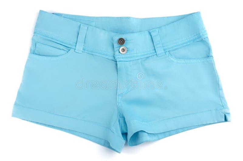 蓝色短裤 库存照片
