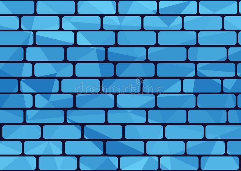 蓝色砖 皇族释放例证