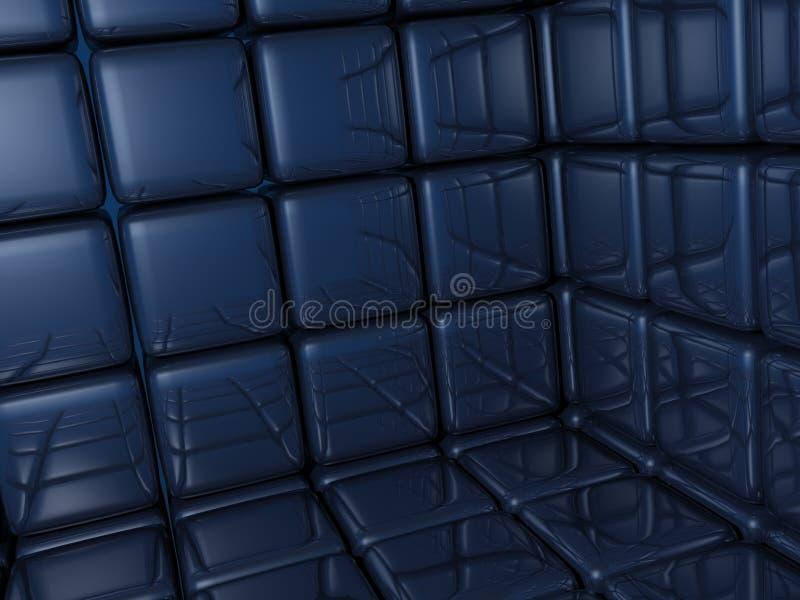 蓝色砖 免版税库存图片