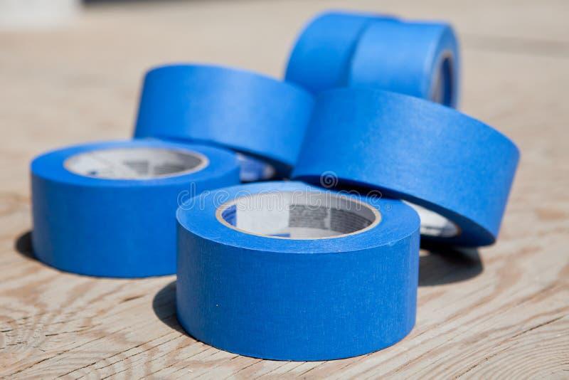 蓝色磁带 库存图片