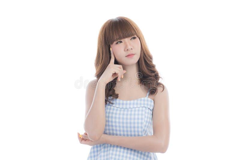 蓝色礼服的少女 免版税库存图片