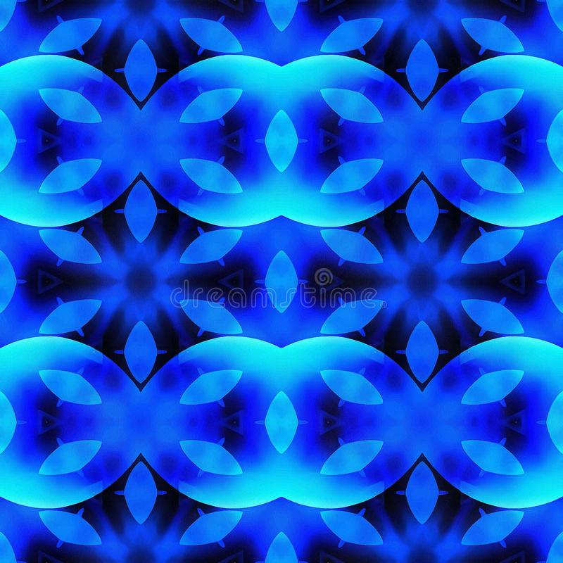 蓝色种族样式Boho样式 皇族释放例证