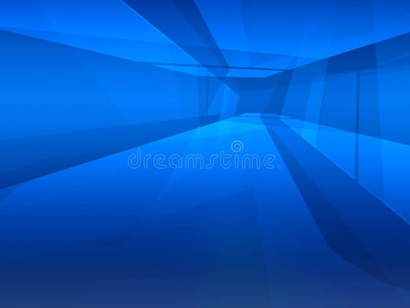 蓝色空间方式 皇族释放例证