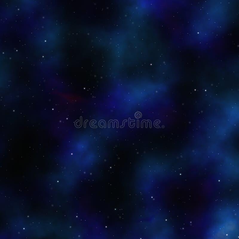 蓝色空间星云 向量例证