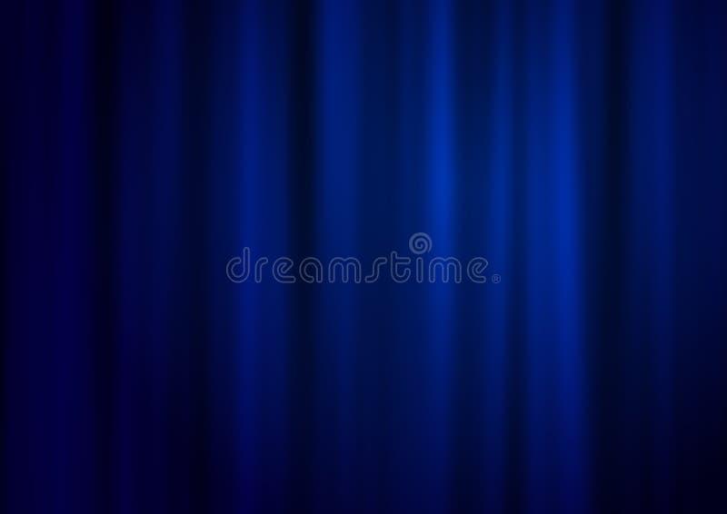 蓝色窗帘 向量例证