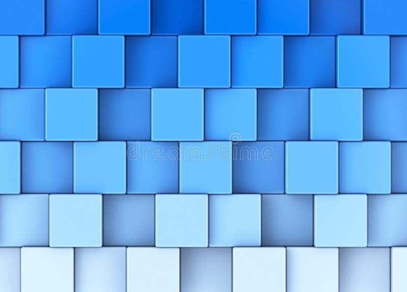 蓝色立方体 库存例证