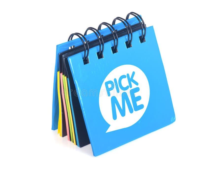 蓝色笔记本白色 库存照片