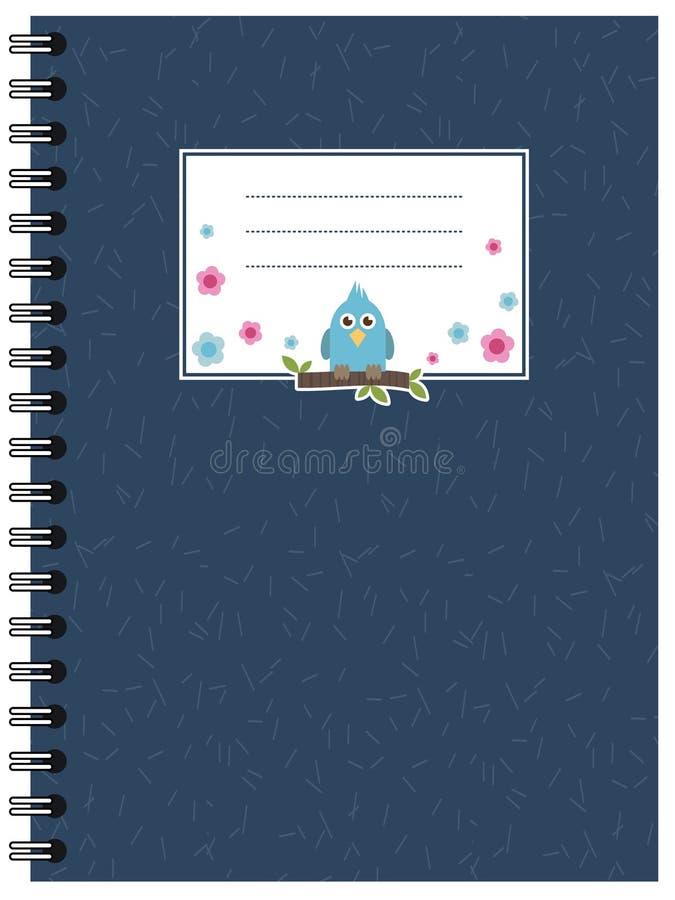 蓝色笔记本 向量例证