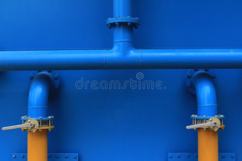 蓝色管道 库存图片
