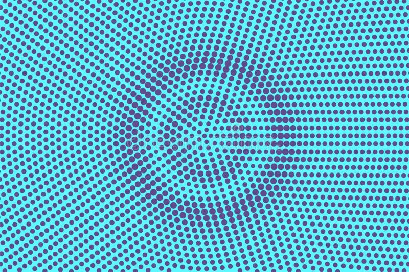 蓝色紫罗兰被加点的中间影调 同心圆被加点的梯度 中间影调背景 库存例证