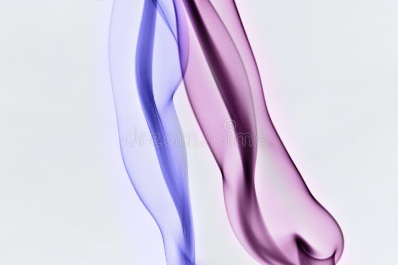 蓝色紫色烟 库存照片