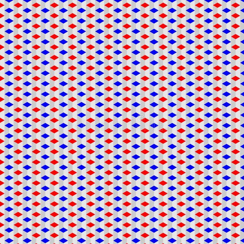 蓝色红色和白色样式 免版税库存照片