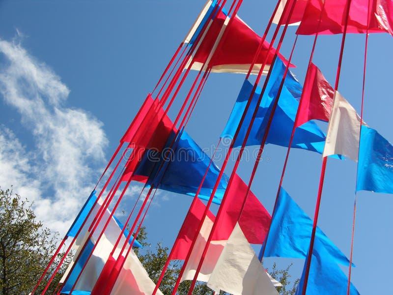 蓝色红色白色 库存照片