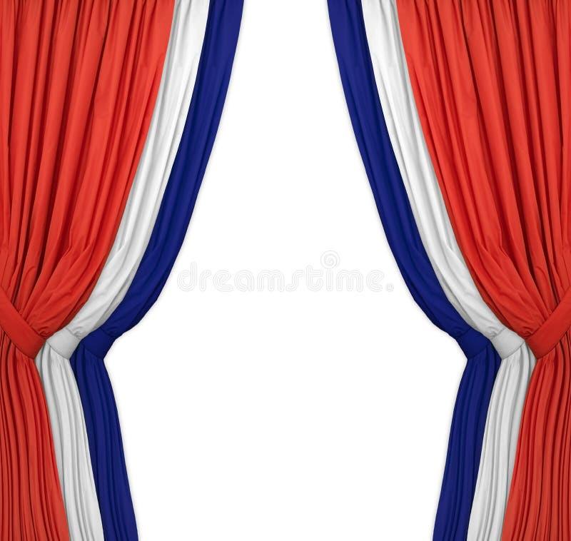 蓝色红色白色 免版税库存图片