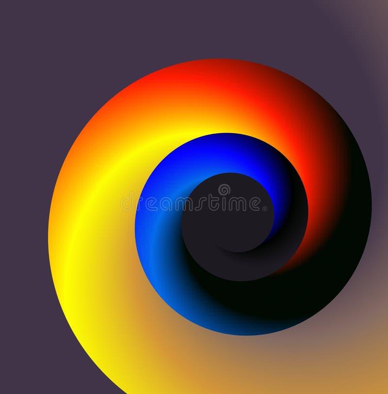 蓝色红色螺旋 向量例证