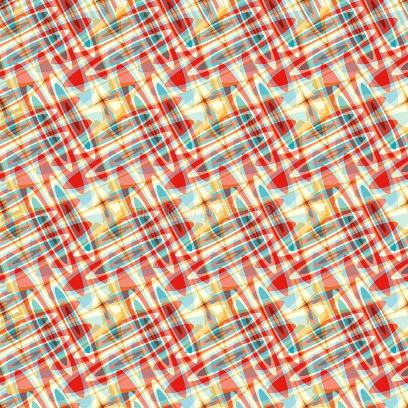 蓝色红色黄色盘旋荧光的抽象背景 库存例证