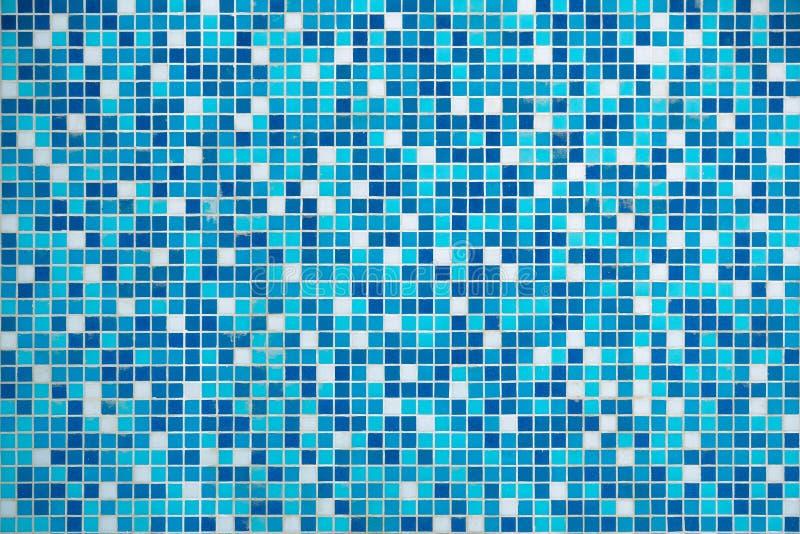 蓝色纹理水池瓦片 免版税库存图片