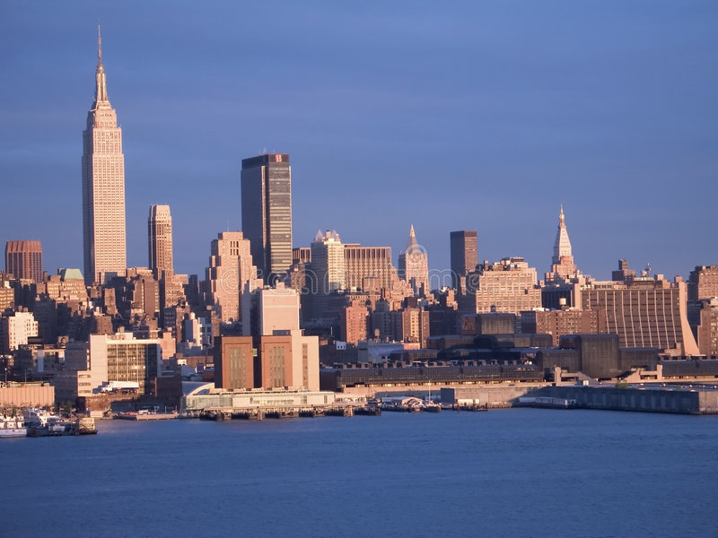 蓝色纽约 图库摄影