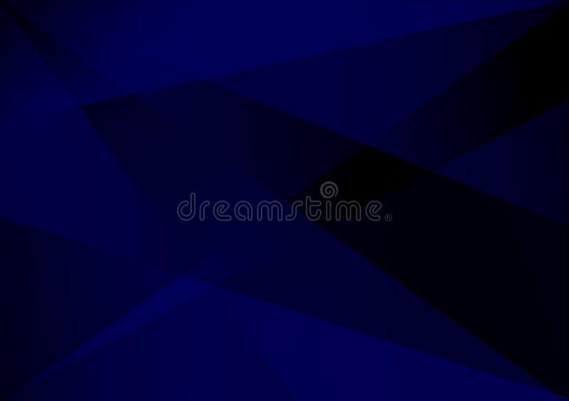 蓝色线性形状背景梯度背景 向量例证