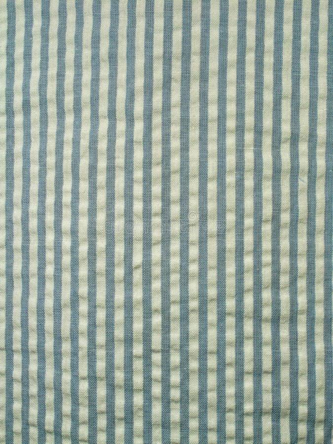 蓝色织品泡泡纱 库存照片