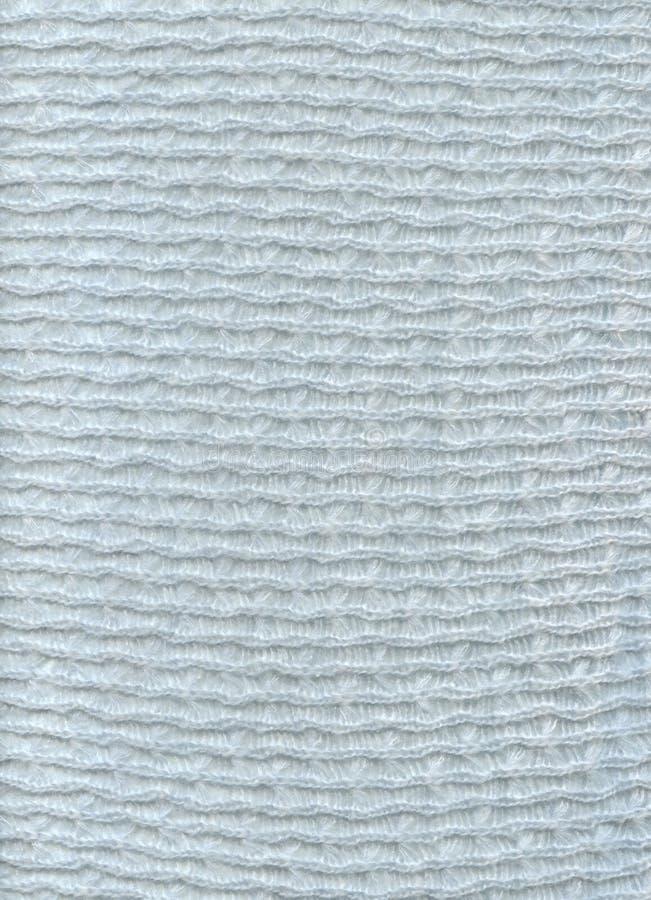 蓝色织品纺织品纹理羊毛 免版税库存照片